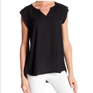 Pleione Split Neck Blouse, Pleated Back - M